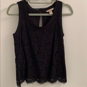 Perfect black lace tank
